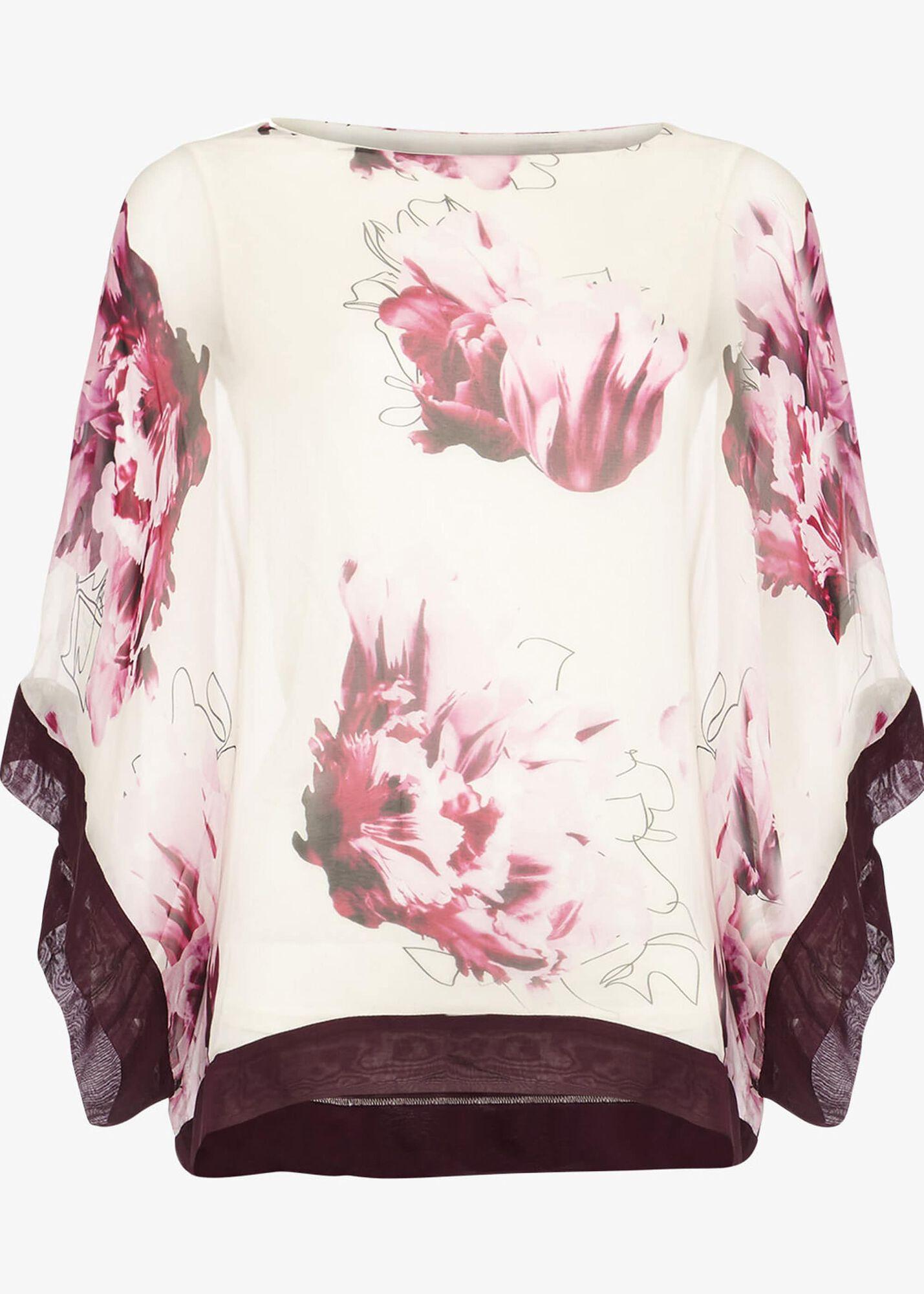 bf1e5a842ec02a Peony Floral Silk Blouse. Previous Next