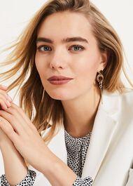 Abby Circle Drop Earrings