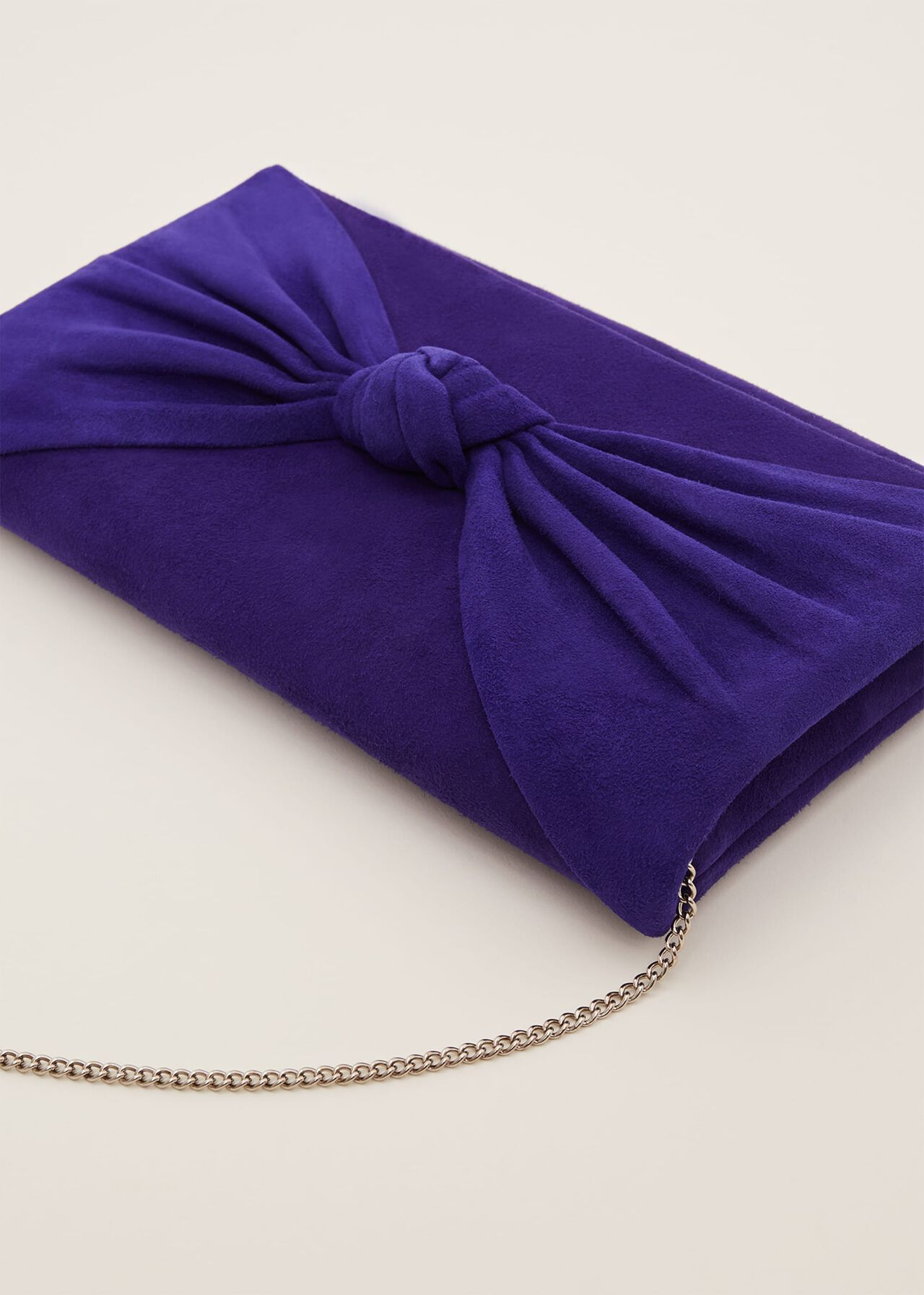 Carrie Knot Front Clutch Bag