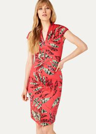 Bria Snake Palm Print Dress