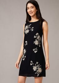 Hina Floral Embroidered Shift Dress