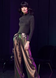 Keira Gold Wide Leg Trousers