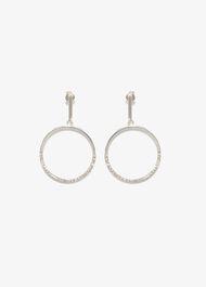 Kristen Stone Front Hoop Earrings