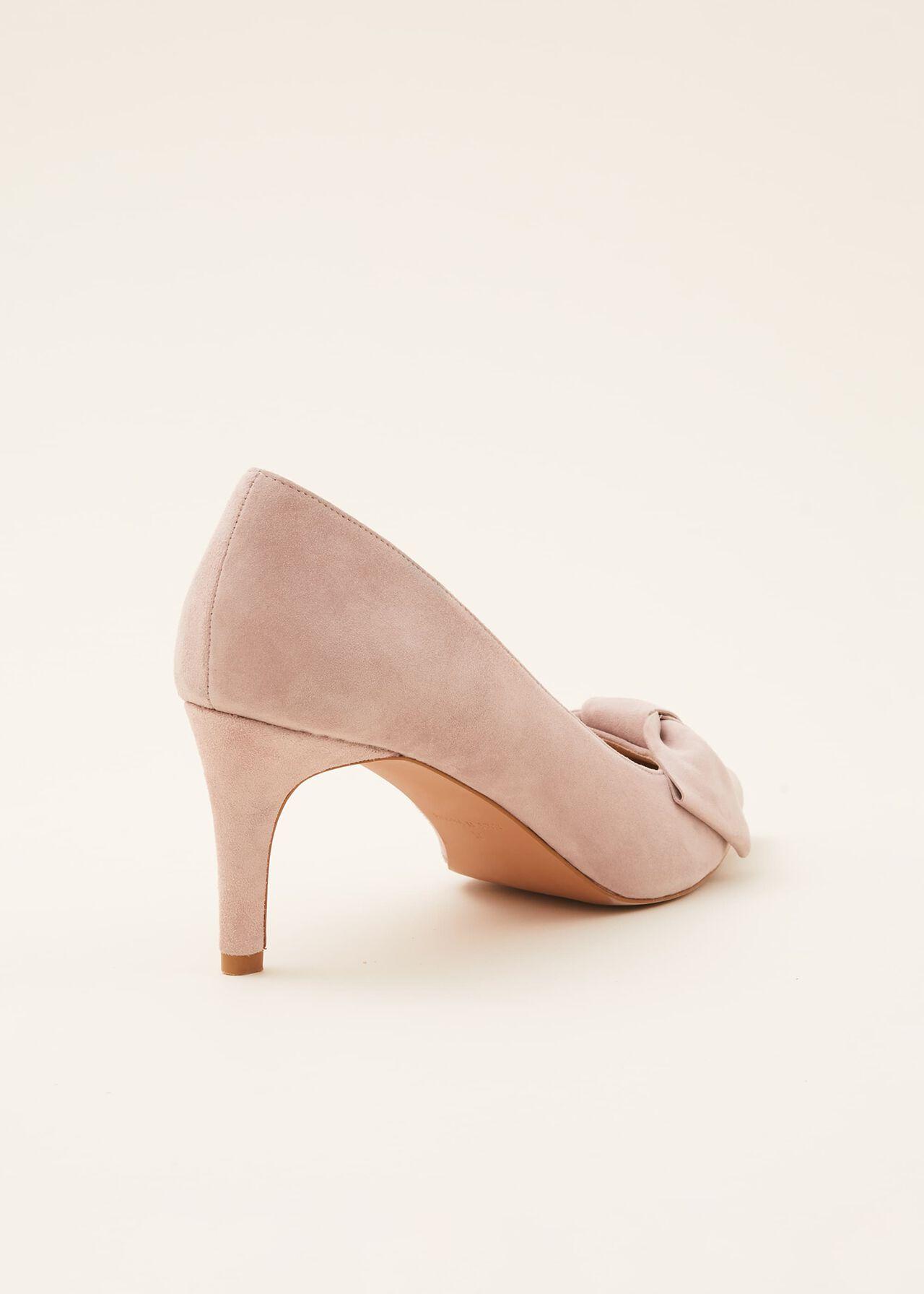 Sim Suede Bow Court Shoe