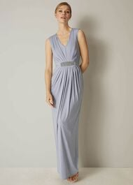 Martha Embellished Maxi Bridesmaid Dress