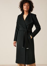 Nicci Belted Wool Trench Coat