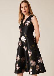 Sandy Floral Jacquard Dress