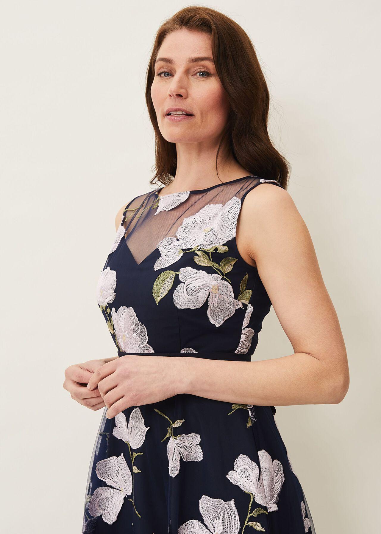 Charlotte Floral Embroidered Dress