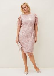Harlow Sequin Lace Dress