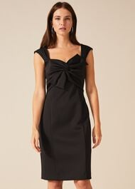 Giulia Bow Front Scuba Dress