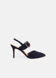 Joss Jeweled Buckle Court Shoes