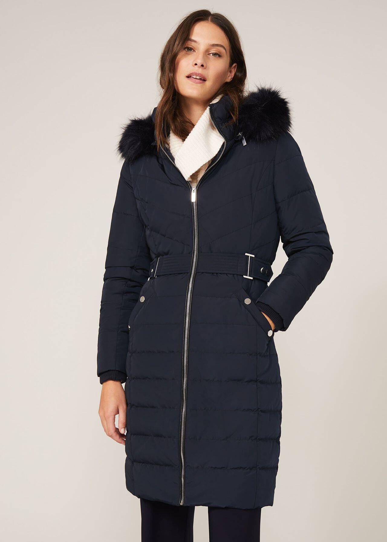 Elouise Buckle Long Puffer Coat