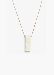 Monica Marbled Block Long Pendant Necklace