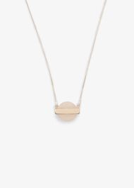 Mae Pink Stone Long Pendant Necklace