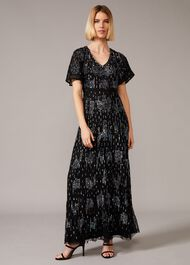 Clarabelle Sequin Embelished Maxi Dress