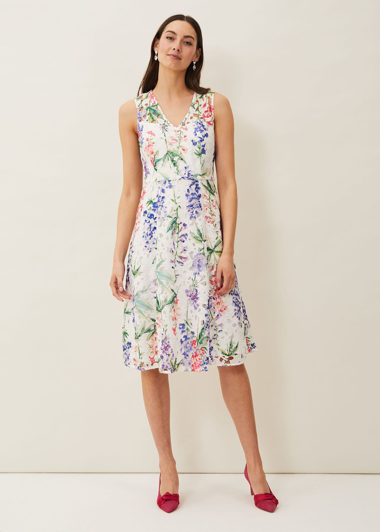${product-id}-Lonnie Floral Fit And Flare Dress--${view-type}