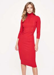 Anabel Eyelet Knitted Dress