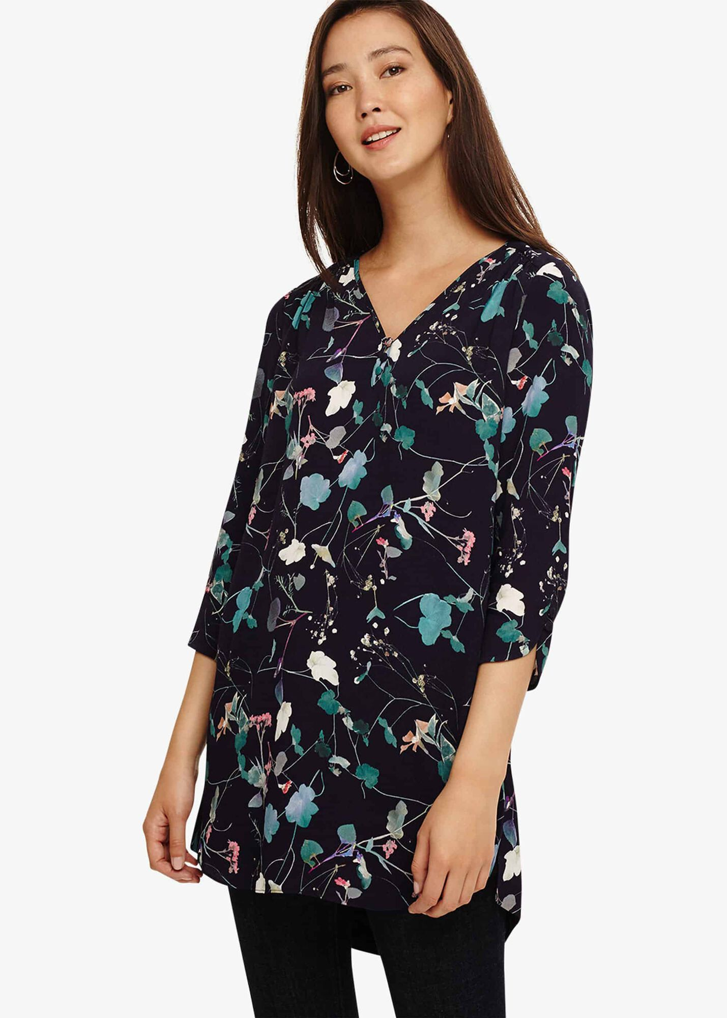 7847225ed34 Pearly Floral Tunic Top   Phase Eight   Phase Eight