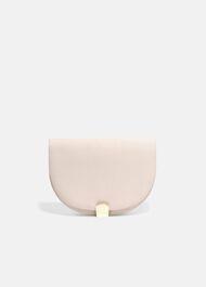 Tilly Halfmoon Grograin Clutch Bag