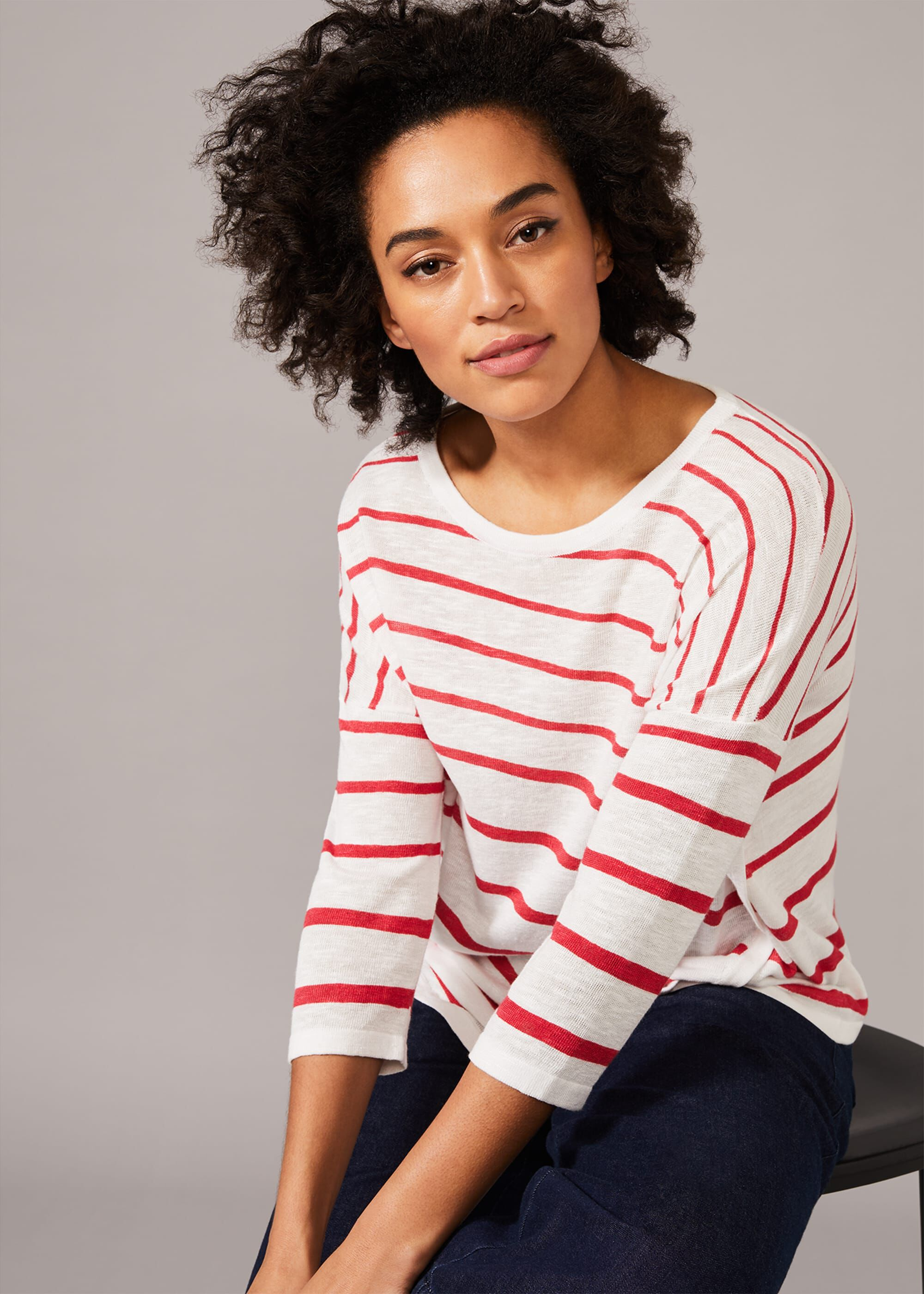 Chika Stripe Knit Top