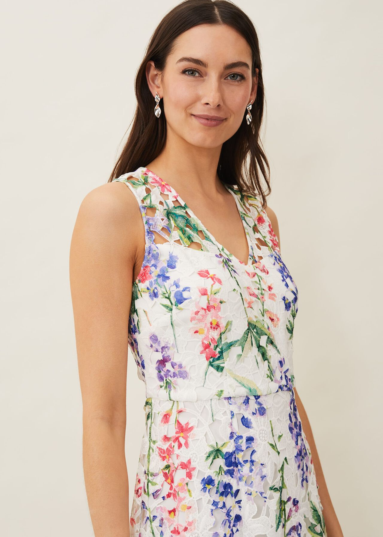 Lonnie Floral Fit And Flare Dress