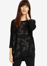 Rachelle Rope Sequin Knitted Jumper