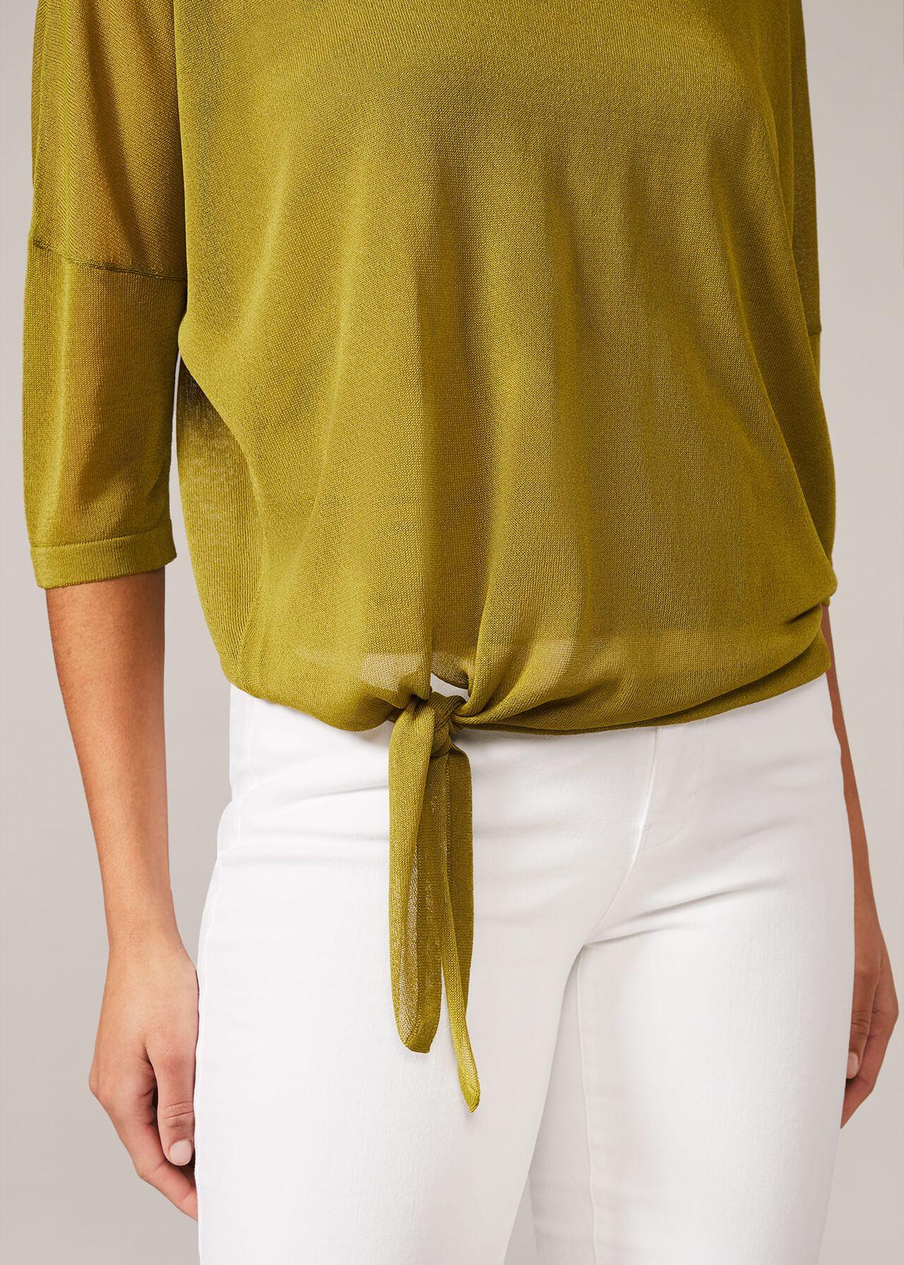 Nat Tie Side Knit Top