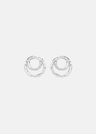 Amy Hammered Twist Stud Earrings
