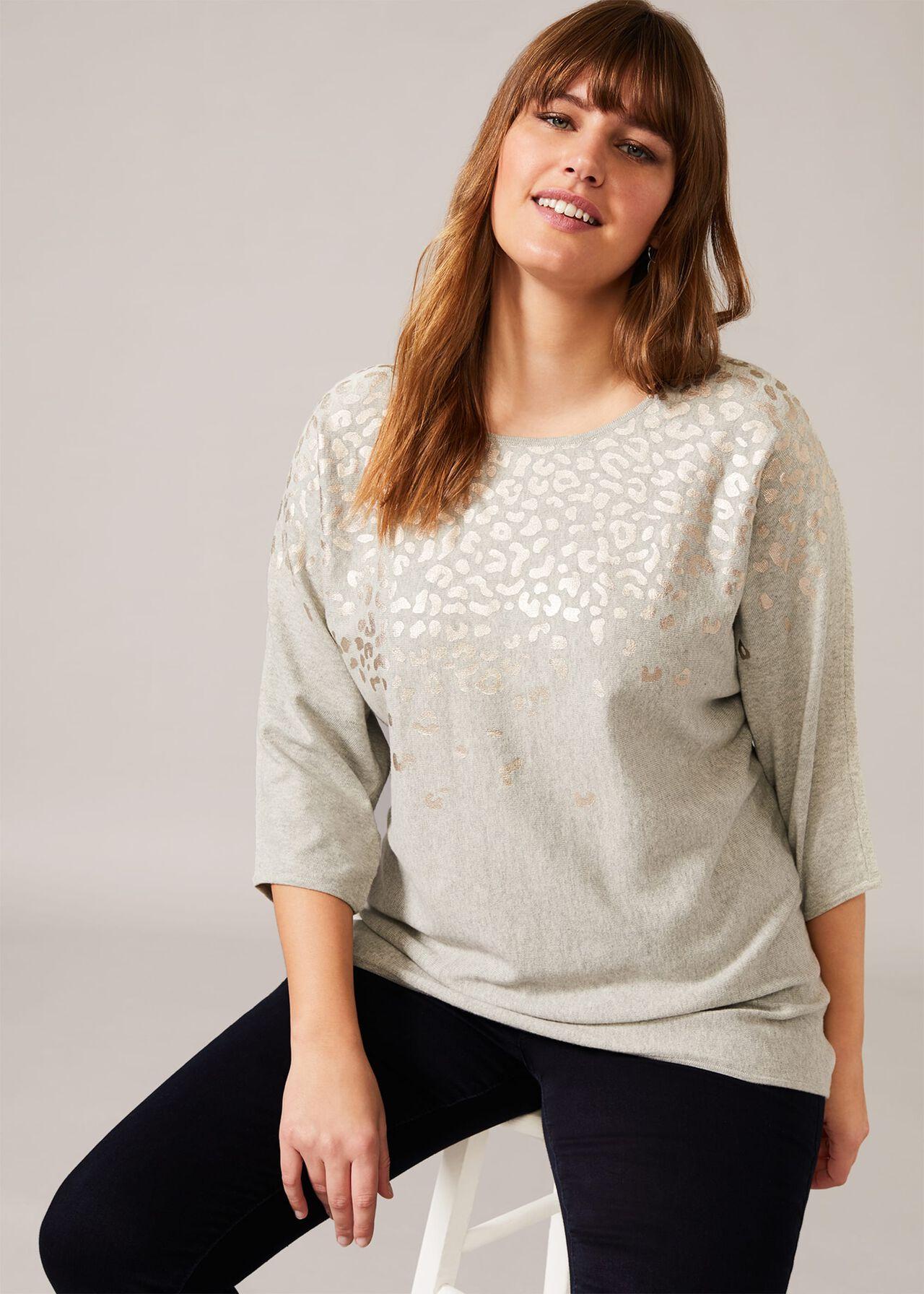 Amaya Animal Print Knit Top