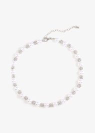 Avalia Pearl And Pave Necklace