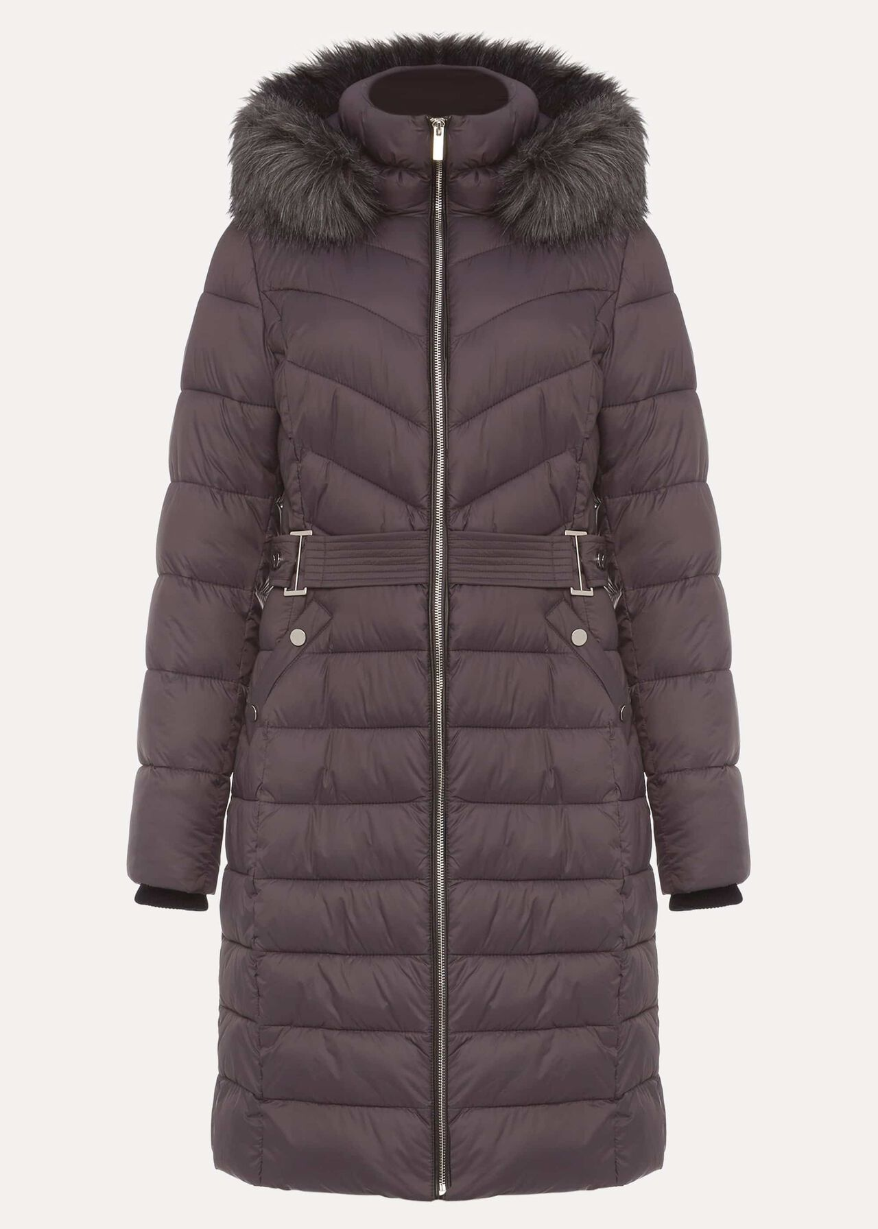 Synthia High Shine Long Puffer