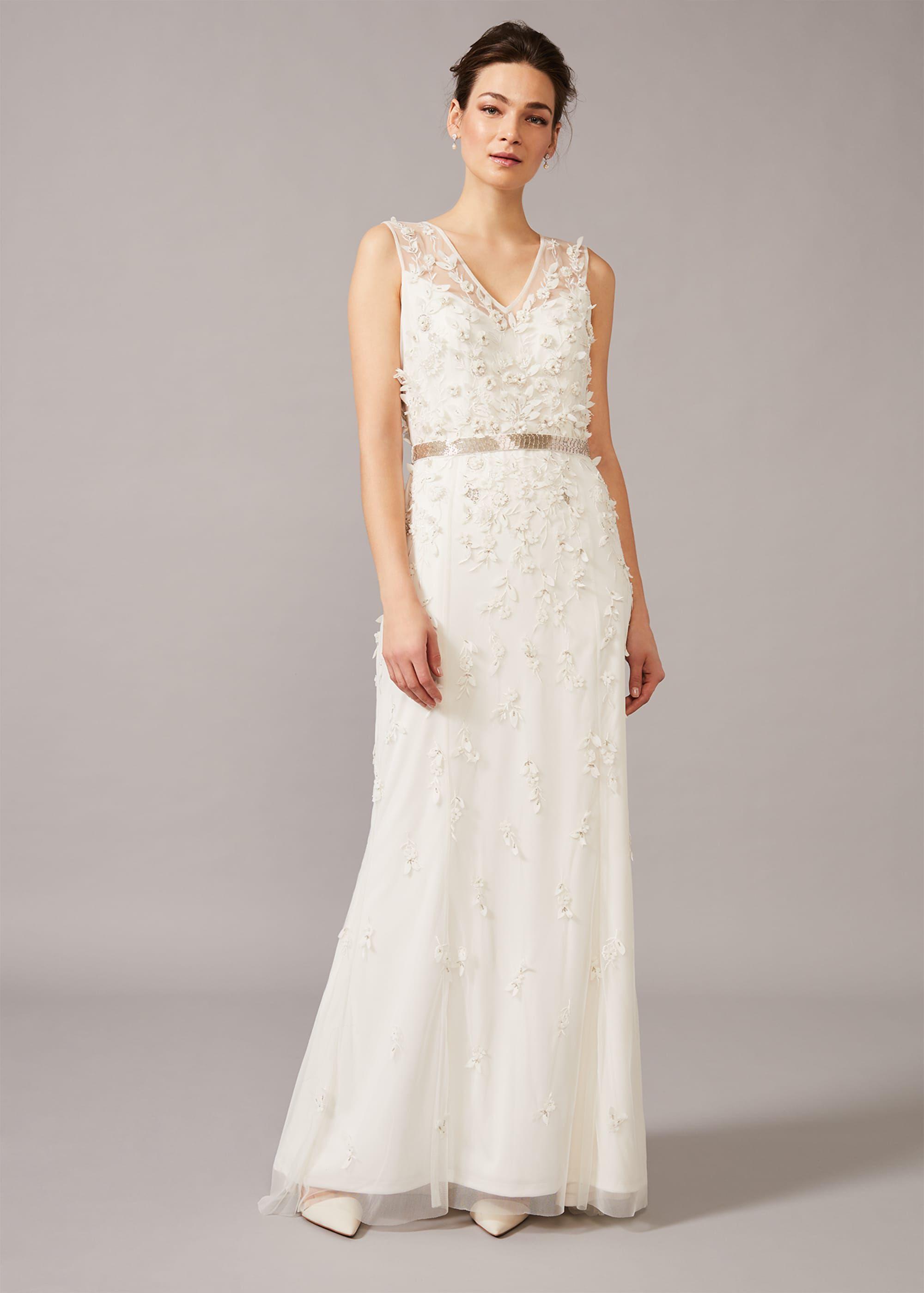 Frida Floral Applique Wedding Dress