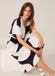 Sage Spot Dress