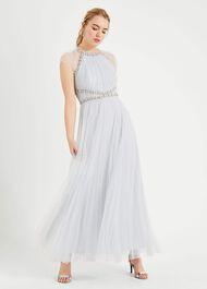 Gerona Pleated Tulle Dress