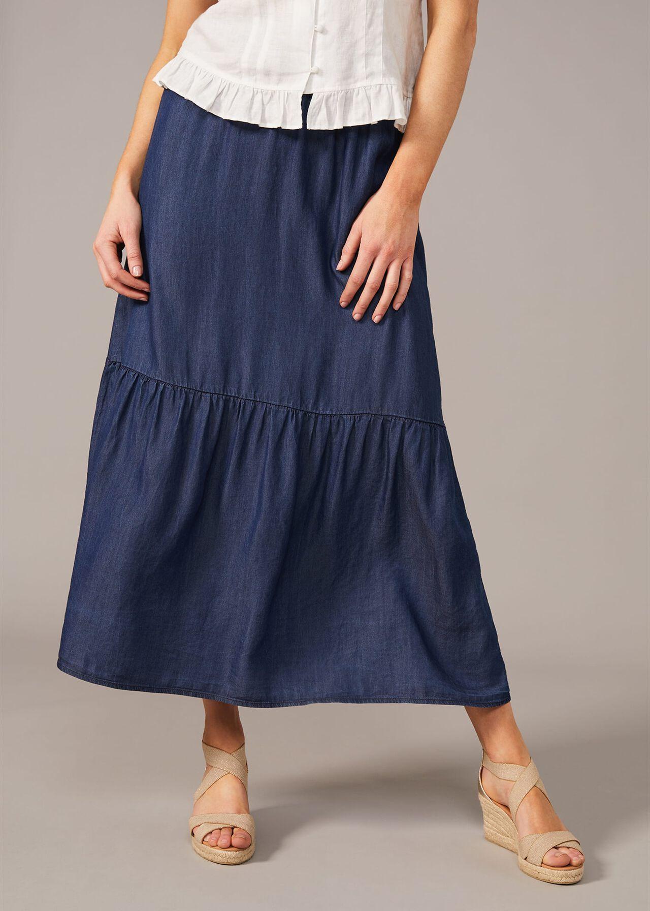 Janey Chambray Skirt