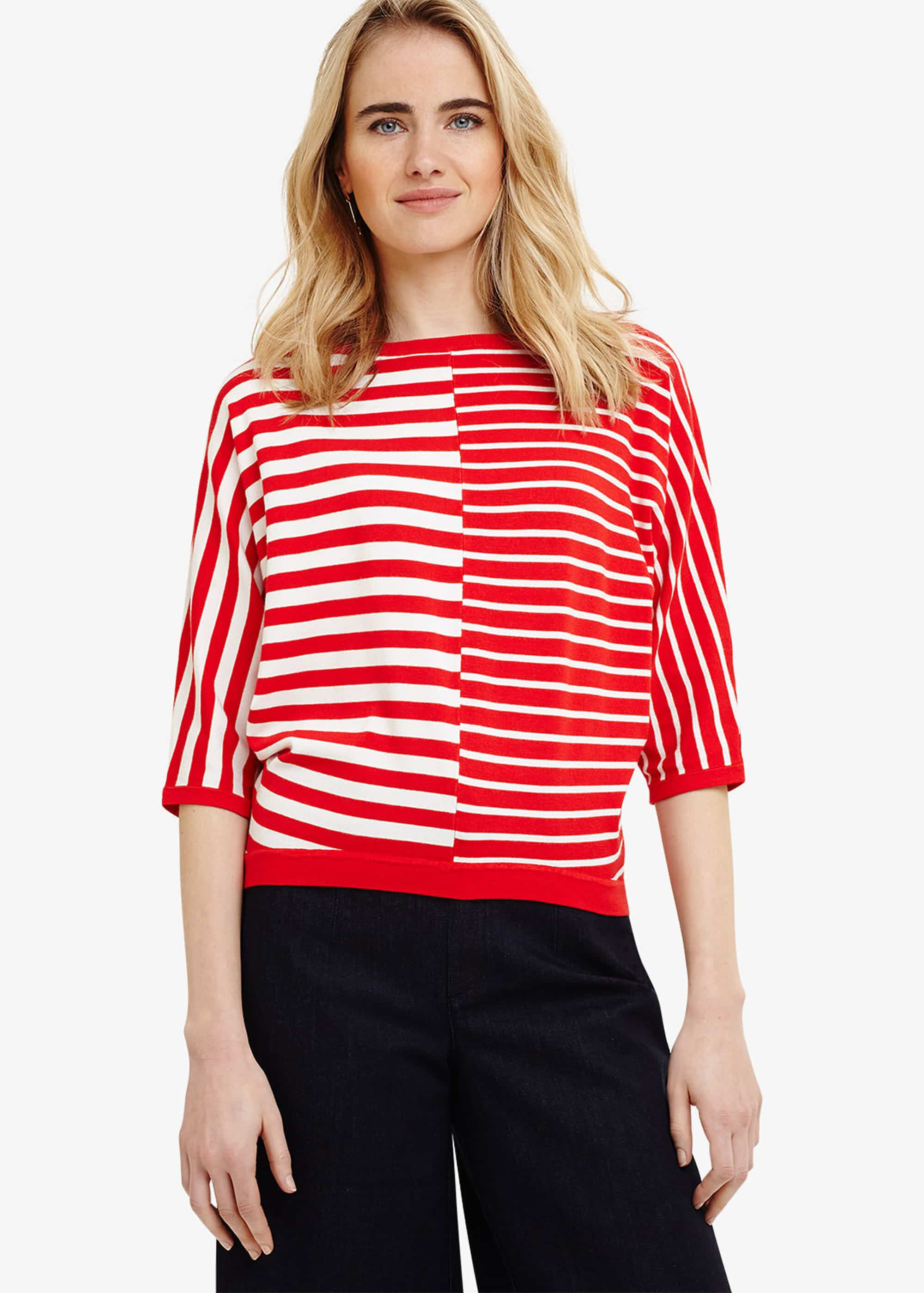 Sukie Broken Stripe Knit Top