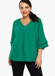 Kelly Fluted Sleeve Blouse