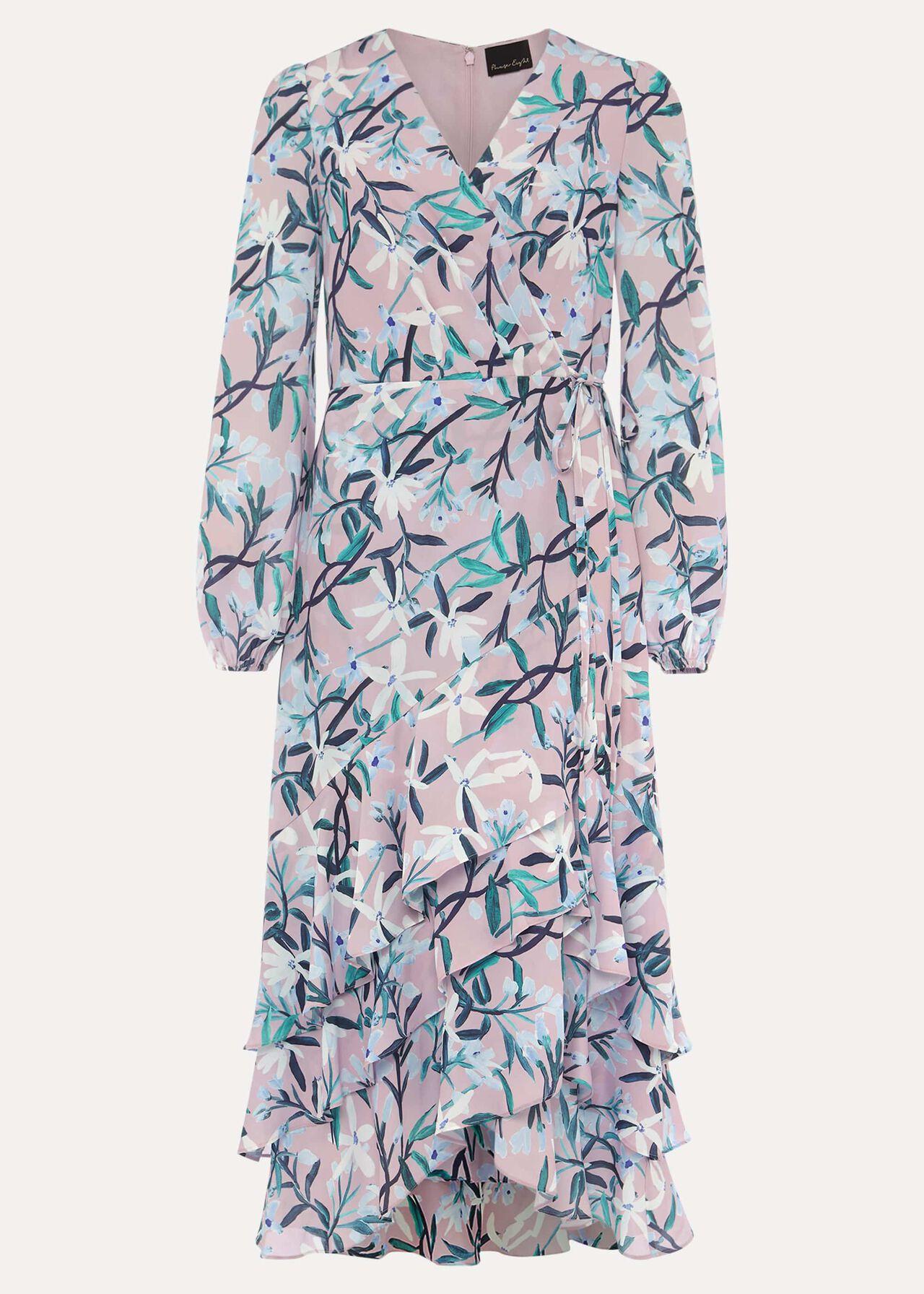 Jenna Floral Frill Dress