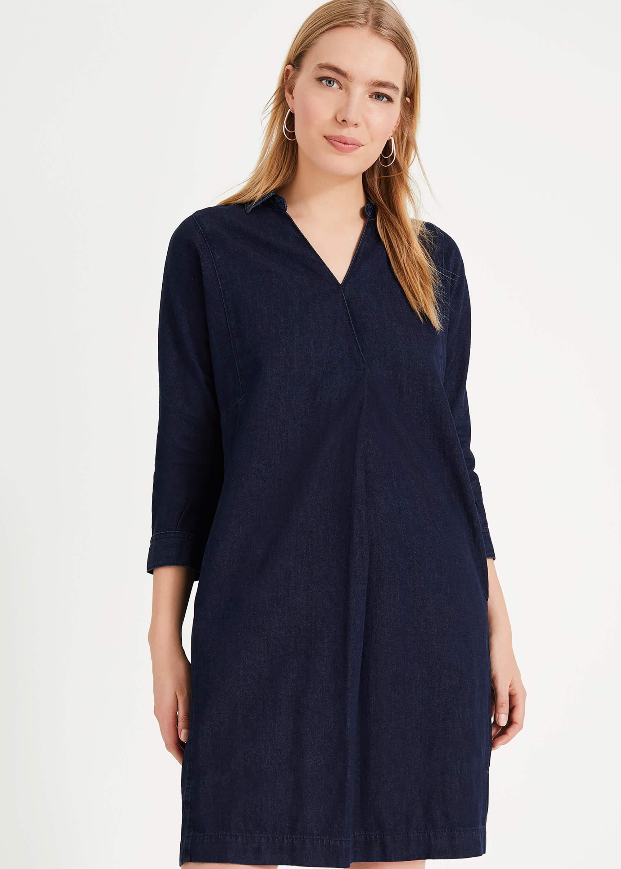 Kathy Denim Shirt Dress