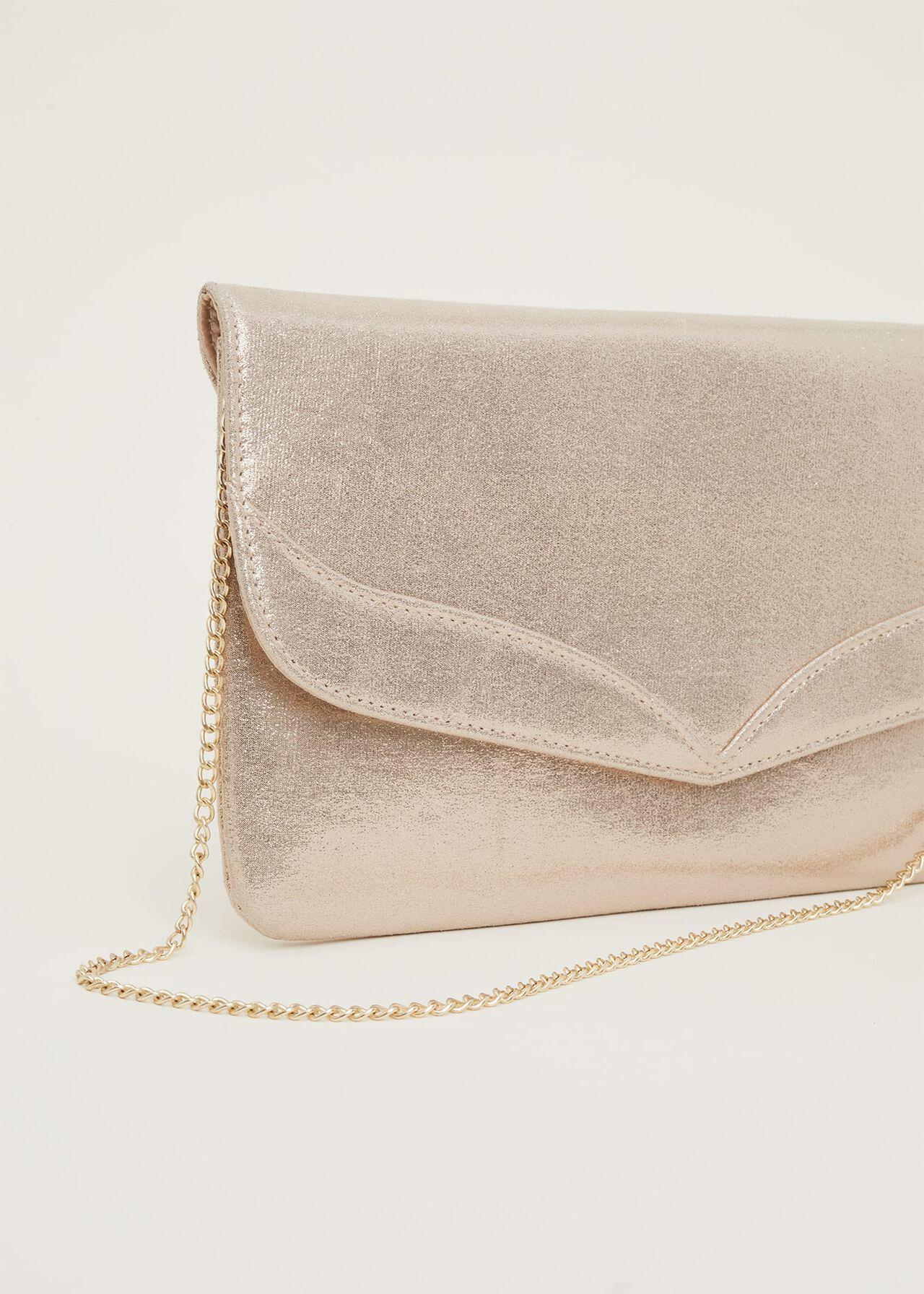 Caitlin Metallic Clutch Bag