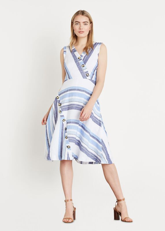 d8f8d9db7fd Carie Linen Stripe Dress