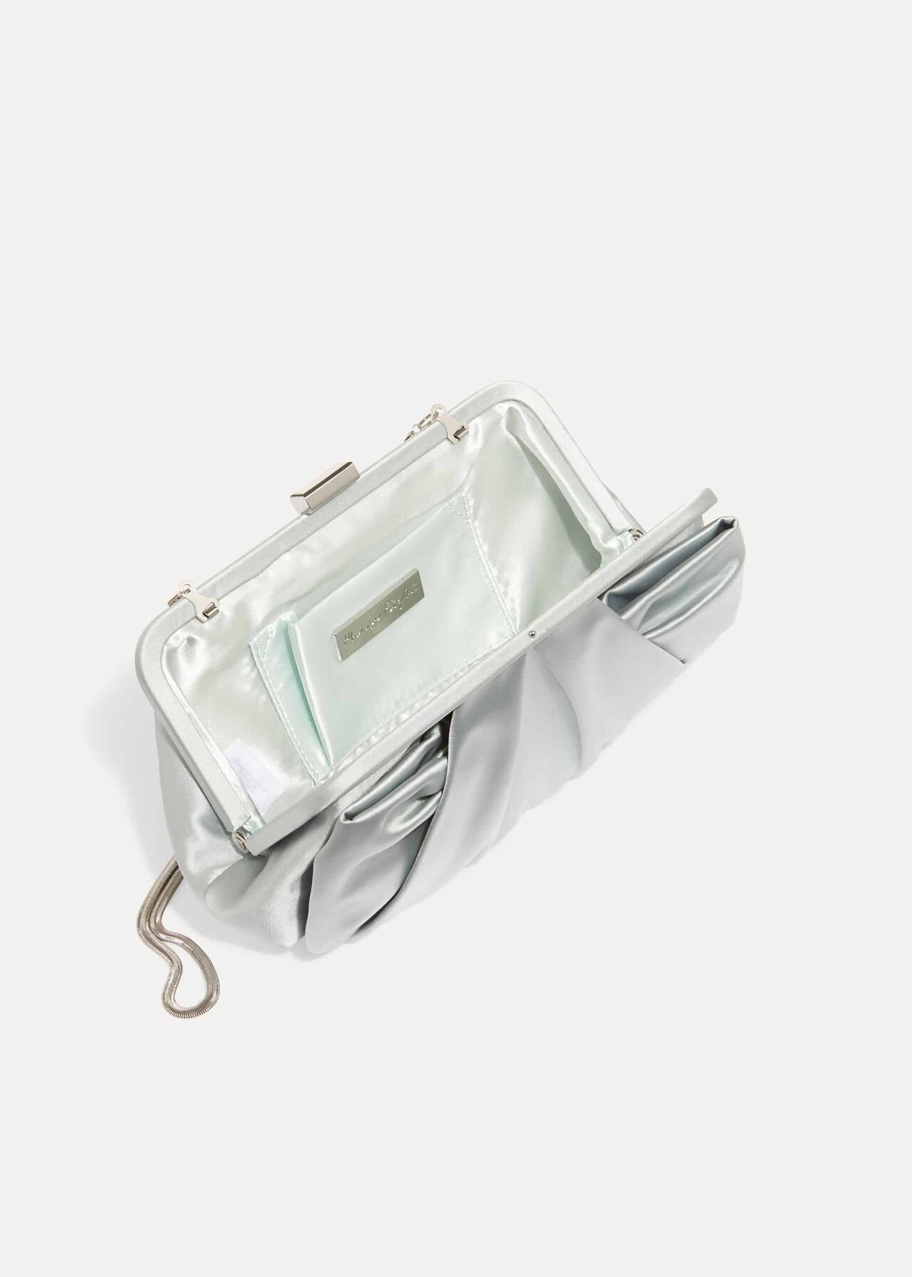 Alice Satin Bow Clutch Bag