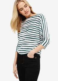 Brinley Brushstroke Stripe Batwing Knit Top