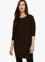 Becca Eyelet Knitted Dress