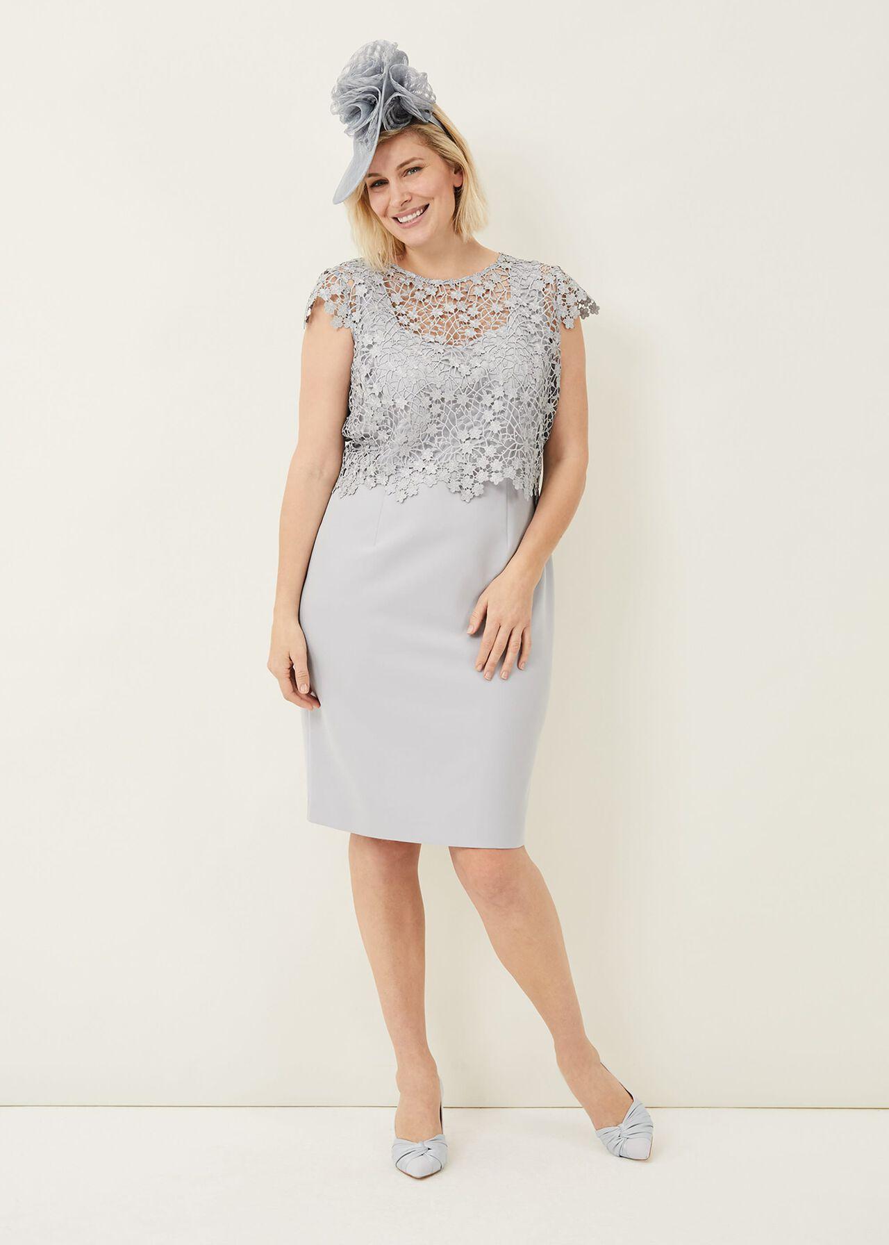 Mariposa Floral Lace Bodice Dress