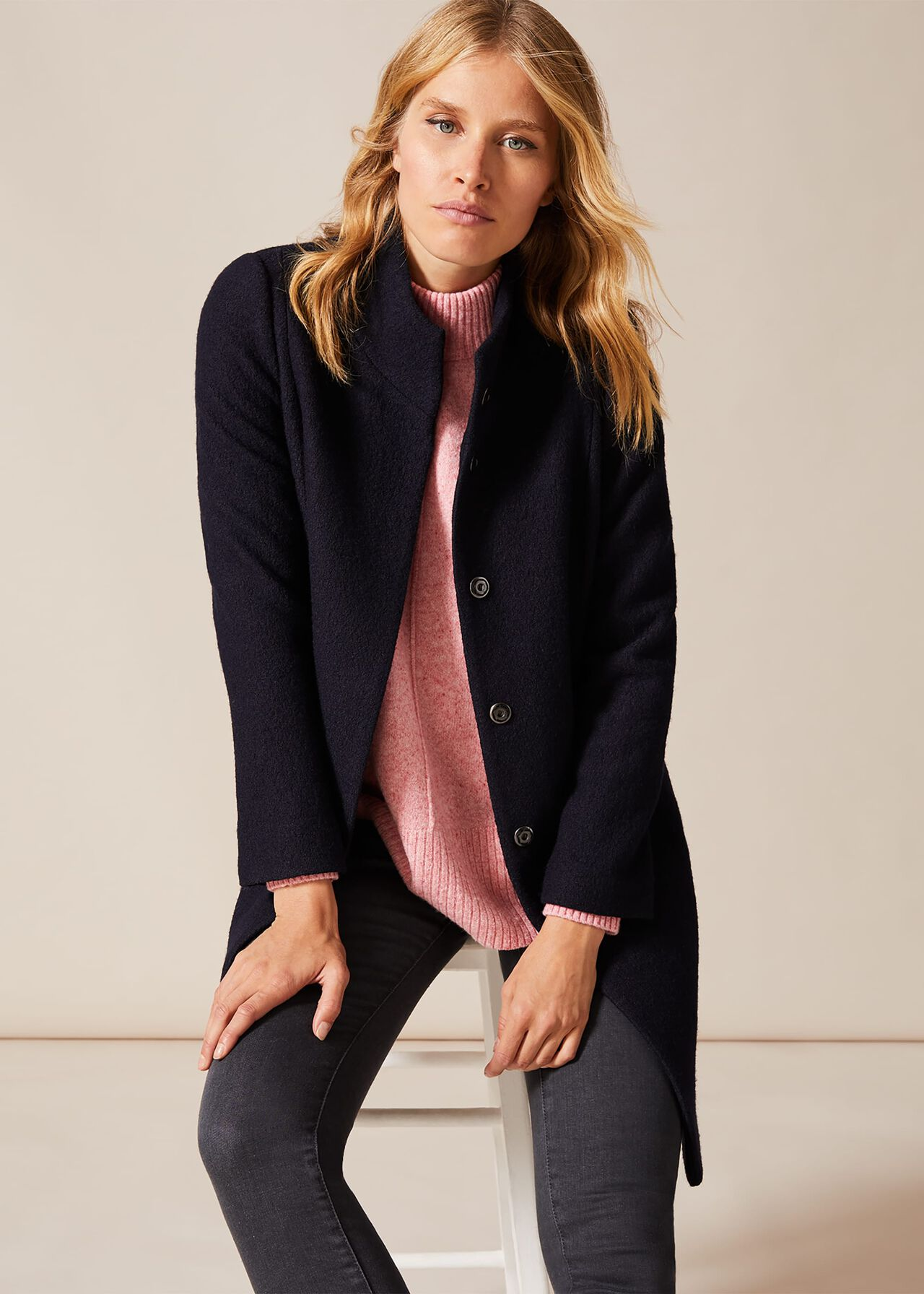 Bailie Boiled Wool Coat by Phase Eight