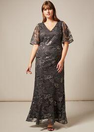 Genevive Sequin Maxi Dress