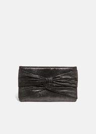 Keri Metallic Clutch Bag