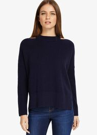 Cammi Cut Neck Chunky Knitted Jumper