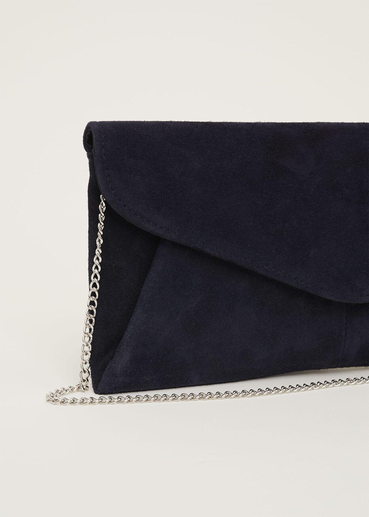 Wendie Suede Envelope Clutch Bag